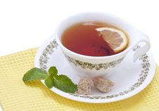 Free Tea With Mint And Lemon Stock Images - 17468074