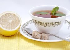 Free Tea With Mint And Lemon Stock Image - 17468101