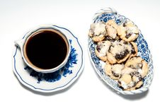 Free Cup Of Coffee With Cakes Stock Photos - 17468923