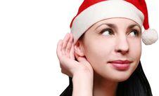 Free Santa S Woman Listening Good Gossip Stock Photos - 17468963