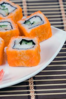 Free Traditional Japanese Rolls Royalty Free Stock Image - 17468986