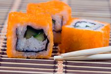 Free Traditional Japanese Rolls Stock Photos - 17469003