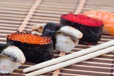 Free Traditional Japanese Rolls Royalty Free Stock Photo - 17469095