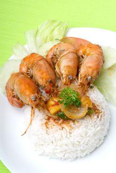 Free Rice With Shrimp Royalty Free Stock Photos - 17469098