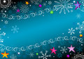 Free Dark Blue Christmas Frame Stock Photos - 17470113