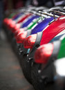 Free Scooters, Colorful Row Stock Image - 17472891