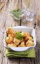 Free Cheese Coated Potatoes Royalty Free Stock Images - 17473469