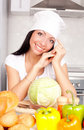 Free Cook With Vegetables Stock Photo - 17476310