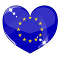 Free Vector Heart With Europe Flag Texture Royalty Free Stock Images - 17478209