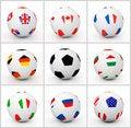 Free Set Soccer Ball Royalty Free Stock Image - 17478666