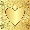 Free Valentine Elegant Golden Background Stock Photos - 17479423