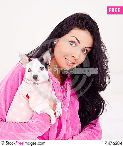 Free Woman With Her Dog Stock Images - 17476284
