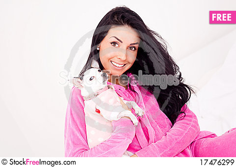 Free Woman With Her Dog Royalty Free Stock Images - 17476299