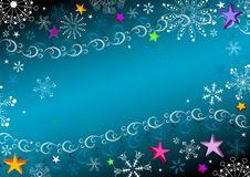 Free Dark Blue Christmas Frame Stock Photos - 17470113