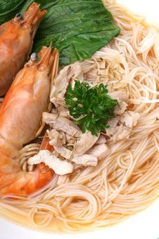 Free Seafood Noodles Stock Image - 17470131