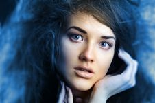 Free Portrait Of The Beautiful Girl Stock Photography - 17471052