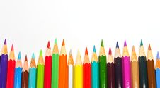 Free Color Pencils Background Royalty Free Stock Photography - 17471237
