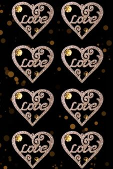 Free Love Heart Decoration/background Royalty Free Stock Images - 17471249