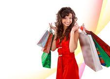 Free Shopping Pretty Woman Stock Photos - 17471523