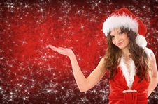 Free Woman Dressed As Santa Royalty Free Stock Photo - 17471615