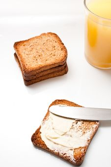 Toast For Breakfast Stock Photography