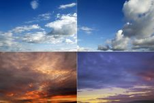 Free Four Cloudscapes Royalty Free Stock Image - 17472126