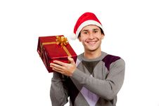Free The Guy With A Gift Stock Photos - 17472273