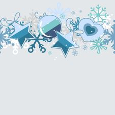 Free Seamless Christmas Pattern Royalty Free Stock Images - 17472369