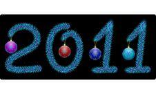 Free New Year 2011 Royalty Free Stock Photos - 17472438