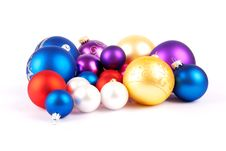 Multi-colored Christmas Balls Royalty Free Stock Image