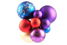 Free Multi-colored Christmas Balls Royalty Free Stock Photo - 17472655