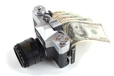 Free Money In The Camera Royalty Free Stock Photos - 17472718