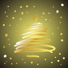 Christmas Or New Year Shine Tree Royalty Free Stock Images