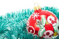 Free Christmas-tree Glass Decorations Royalty Free Stock Photo - 17473375