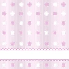 Pink Babies Background Royalty Free Stock Photo