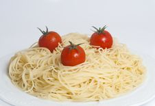 Free Spaghetti With Tomatoes Stock Photography - 17473802