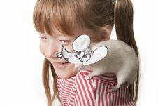 Free Fun Childl And Rat In A Mask Royalty Free Stock Images - 17474019