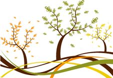Free Abstract Tree  Illustration Autumn Spring Stock Images - 17474164