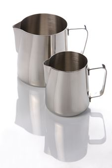 Free Two Metal Jugs Royalty Free Stock Photography - 17474237