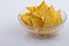 Free Nachos In Glass Bowl Royalty Free Stock Image - 17474266