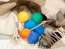 Free A Set Of Color Woolen Yarns For Knitting In A Rug Royalty Free Stock Photo - 17474425