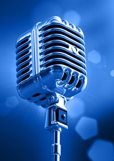 Free Microphone Royalty Free Stock Image - 17474496