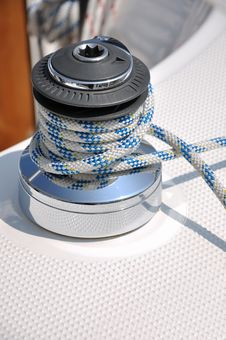 Free Bollard And Rope Of Yacht Stock Photography - 17474702