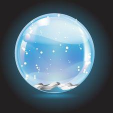 Free Christmas Crystal Snow Ball Royalty Free Stock Image - 17475146