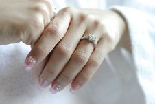 Free Hands With Wedding Rings Stock Image - 17475411