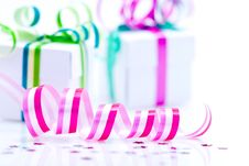 Free White Boxes With Bows Stock Photography - 17475772