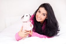 Free Girl With A Dog Royalty Free Stock Photography - 17476227