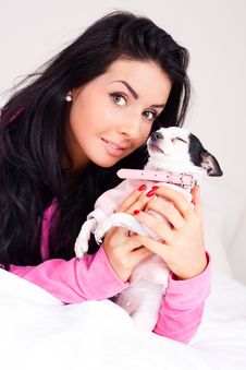 Free Girl With A Dog Stock Images - 17476254