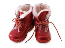 Free Red Boots Royalty Free Stock Photo - 17476295