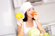 Free Cook With Vegetables Royalty Free Stock Image - 17476386